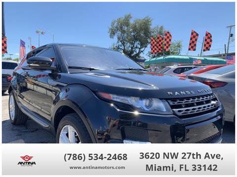 2013 Land Rover Range Rover Evoque Coupe for sale in Miami, FL