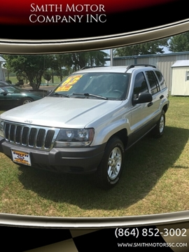 2003 Jeep Grand Cherokee for sale at Smith Motor Company INC in Mc Cormick SC