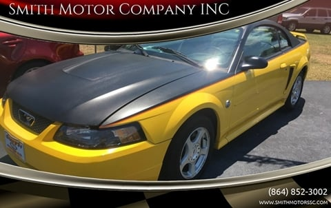 2004 Ford Mustang for sale at Smith Motor Company INC in Mc Cormick SC