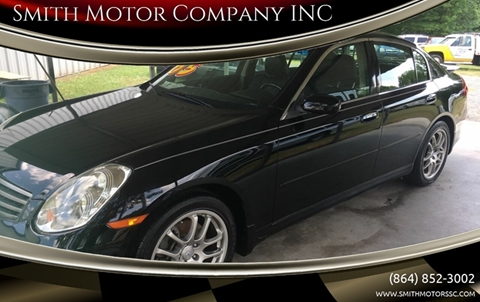 2005 Infiniti G35 for sale at Smith Motor Company INC in Mc Cormick SC