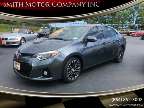2016 Toyota Corolla for sale at Smith Motor Company INC in Mc Cormick SC