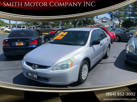 2004 Honda Accord for sale at Smith Motor Company INC in Mc Cormick SC