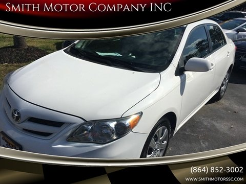 2012 Toyota Corolla for sale at Smith Motor Company INC in Mc Cormick SC