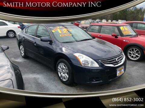 2012 Nissan Altima for sale at Smith Motor Company INC in Mc Cormick SC