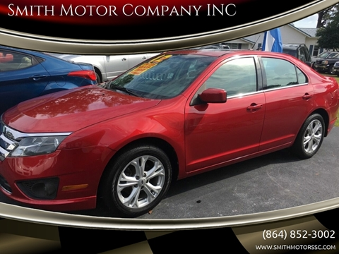 2012 Ford Fusion for sale at Smith Motor Company INC in Mc Cormick SC