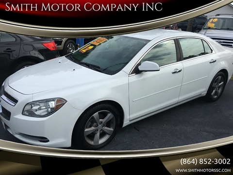 2012 Chevrolet Malibu for sale at Smith Motor Company INC in Mc Cormick SC