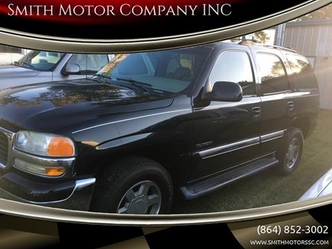 2005 GMC Yukon for sale at Smith Motor Company INC in Mc Cormick SC