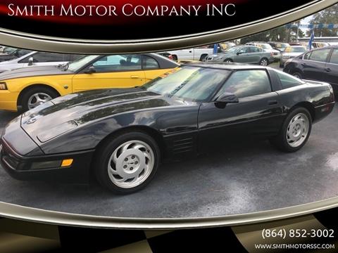 1992 Chevrolet Corvette for sale at Smith Motor Company INC in Mc Cormick SC