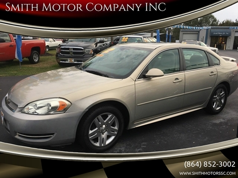2012 Chevrolet Impala for sale at Smith Motor Company INC in Mc Cormick SC