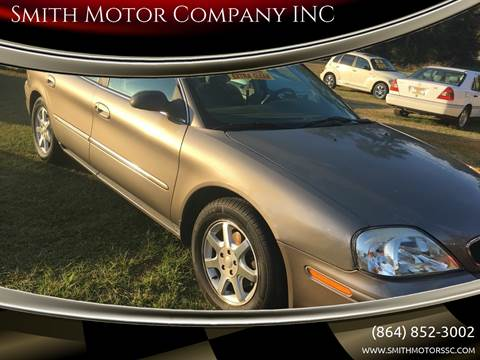 2002 Mercury Sable for sale at Smith Motor Company INC in Mc Cormick SC