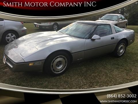 1986 Chevrolet Corvette for sale at Smith Motor Company INC in Mc Cormick SC