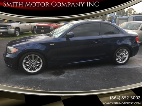 2012 BMW 1 Series for sale at Smith Motor Company INC in Mc Cormick SC