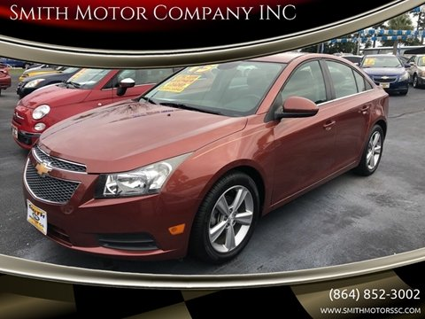 2013 Chevrolet Cruze for sale at Smith Motor Company INC in Mc Cormick SC