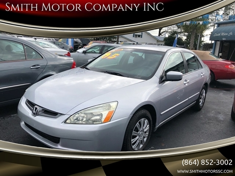 2005 Honda Accord for sale at Smith Motor Company INC in Mc Cormick SC