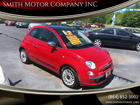 2012 FIAT 500 for sale at Smith Motor Company INC in Mc Cormick SC