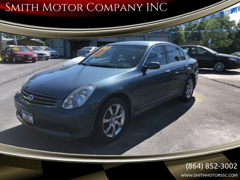 2006 Infiniti G35 for sale at Smith Motor Company INC in Mc Cormick SC