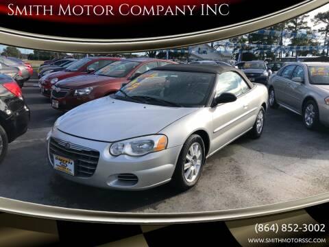 2005 Chrysler Sebring for sale at Smith Motor Company INC in Mc Cormick SC
