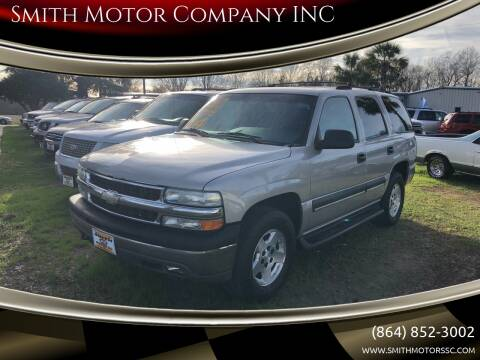 2004 Chevrolet Tahoe for sale at Smith Motor Company INC in Mc Cormick SC