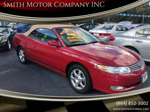 2003 Toyota Camry Solara for sale at Smith Motor Company INC in Mc Cormick SC