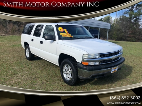 2001 Chevrolet Suburban for sale at Smith Motor Company INC in Mc Cormick SC