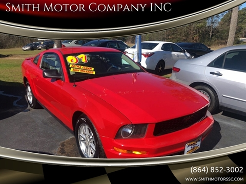 2007 Ford Mustang for sale at Smith Motor Company INC in Mc Cormick SC