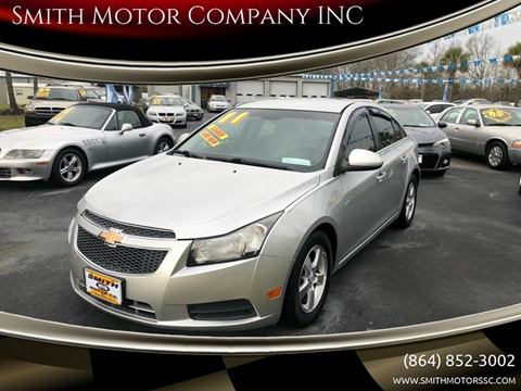 2011 Chevrolet Cruze for sale at Smith Motor Company INC in Mc Cormick SC