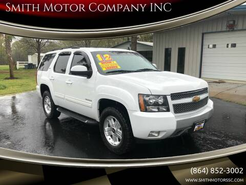 2012 Chevrolet Tahoe for sale at Smith Motor Company INC in Mc Cormick SC