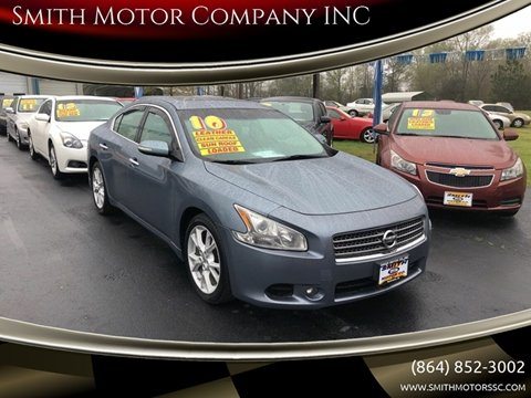 2010 Nissan Maxima for sale at Smith Motor Company INC in Mc Cormick SC