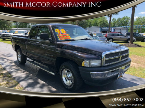 1998 Dodge Ram Pickup 1500 for sale at Smith Motor Company INC in Mc Cormick SC