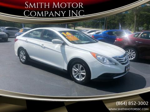 2014 Hyundai Sonata for sale at Smith Motor Company INC in Mc Cormick SC