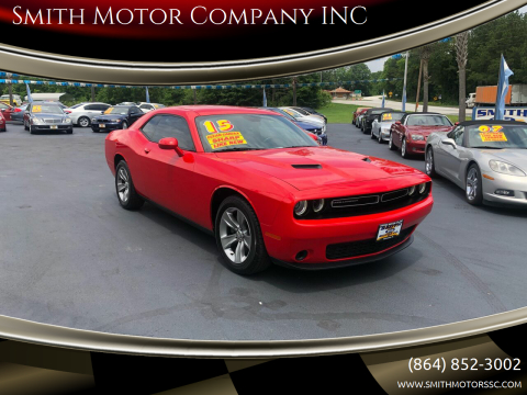 2015 Dodge Challenger for sale at Smith Motor Company INC in Mc Cormick SC