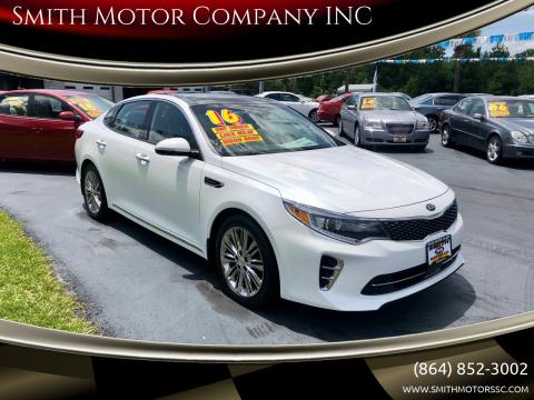 2016 Kia Optima for sale at Smith Motor Company INC in Mc Cormick SC