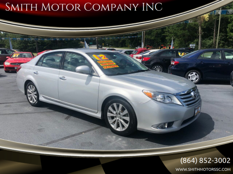 2012 Toyota Avalon for sale at Smith Motor Company INC in Mc Cormick SC