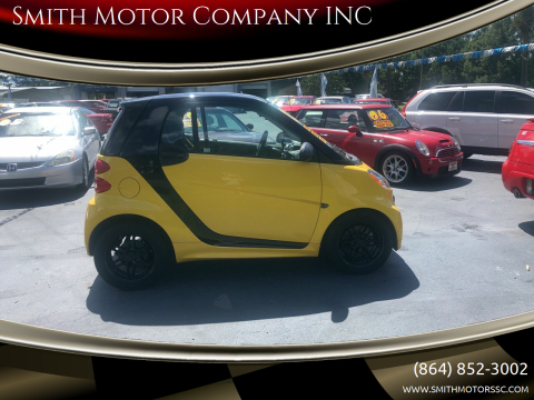 2013 Smart fortwo for sale at Smith Motor Company INC in Mc Cormick SC