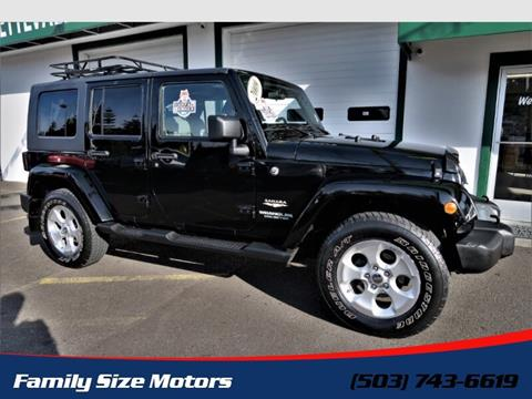 2009 Jeep Wrangler Unlimited for sale in Gladstone, OR
