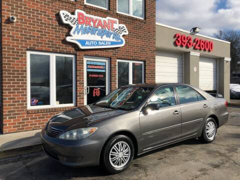 2005 Toyota Camry for sale at Bryant Motorsports Auto Sales Inc in Portsmouth VA