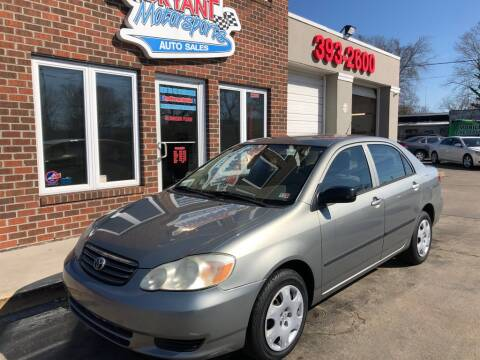 2003 Toyota Corolla CE for sale at Bryant Motorsports Auto Sales Inc in Portsmouth VA