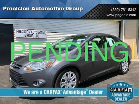 2012 Ford Focus for sale at Precision Automotive Group in Youngstown OH