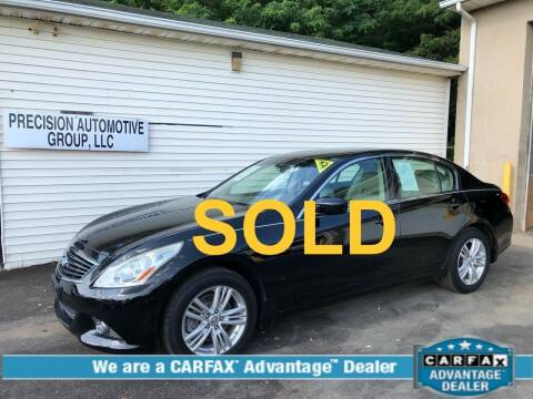 2011 Infiniti G25 Sedan for sale at Precision Automotive Group in Youngstown OH