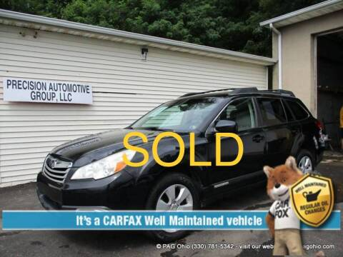 2011 Subaru Outback for sale at Precision Automotive Group in Youngstown OH