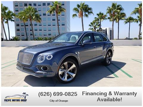 2018 Bentley Bentayga for sale in Corona, CA
