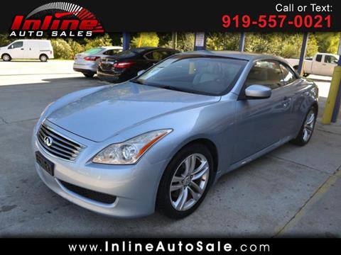 2009 Infiniti G37 Convertible for sale in Fuquay Varina, NC