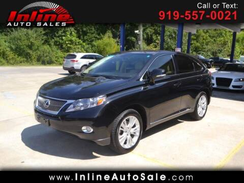 2012 Lexus RX 450h for sale at Inline Auto Sales in Fuquay Varina NC