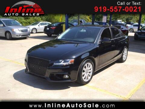 2012 Audi A4 for sale at Inline Auto Sales in Fuquay Varina NC