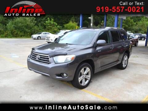 2008 Toyota Highlander for sale at Inline Auto Sales in Fuquay Varina NC