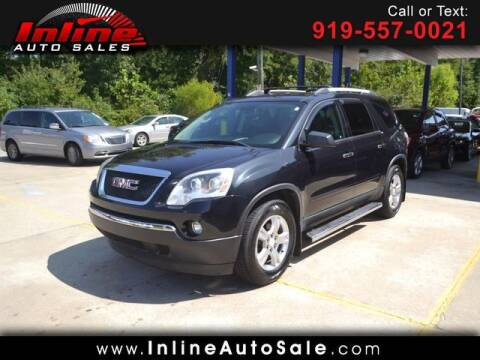 2012 GMC Acadia for sale at Inline Auto Sales in Fuquay Varina NC