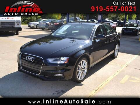 2014 Audi A4 for sale at Inline Auto Sales in Fuquay Varina NC