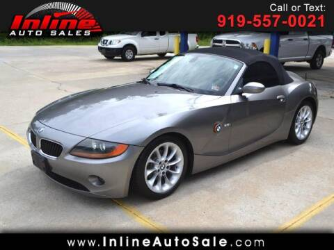 2003 BMW Z4 for sale at Inline Auto Sales in Fuquay Varina NC