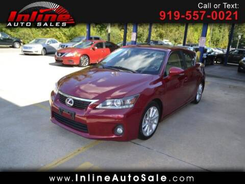 2012 Lexus CT 200h for sale at Inline Auto Sales in Fuquay Varina NC