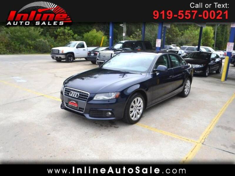 2009 Audi A4 for sale at Inline Auto Sales in Fuquay Varina NC